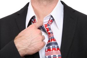 A Republican GOP senator or congress man with symbolic tie